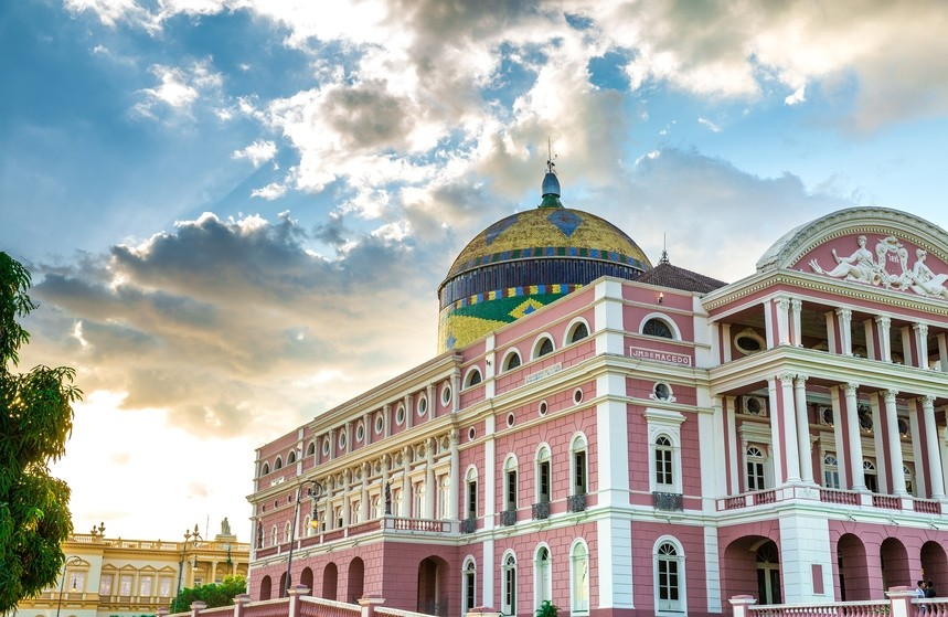 Berühmtes Theaterhaus in Manaus