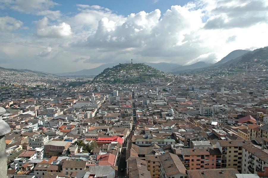 Blick auf Quito während unserer Ecuador Reise