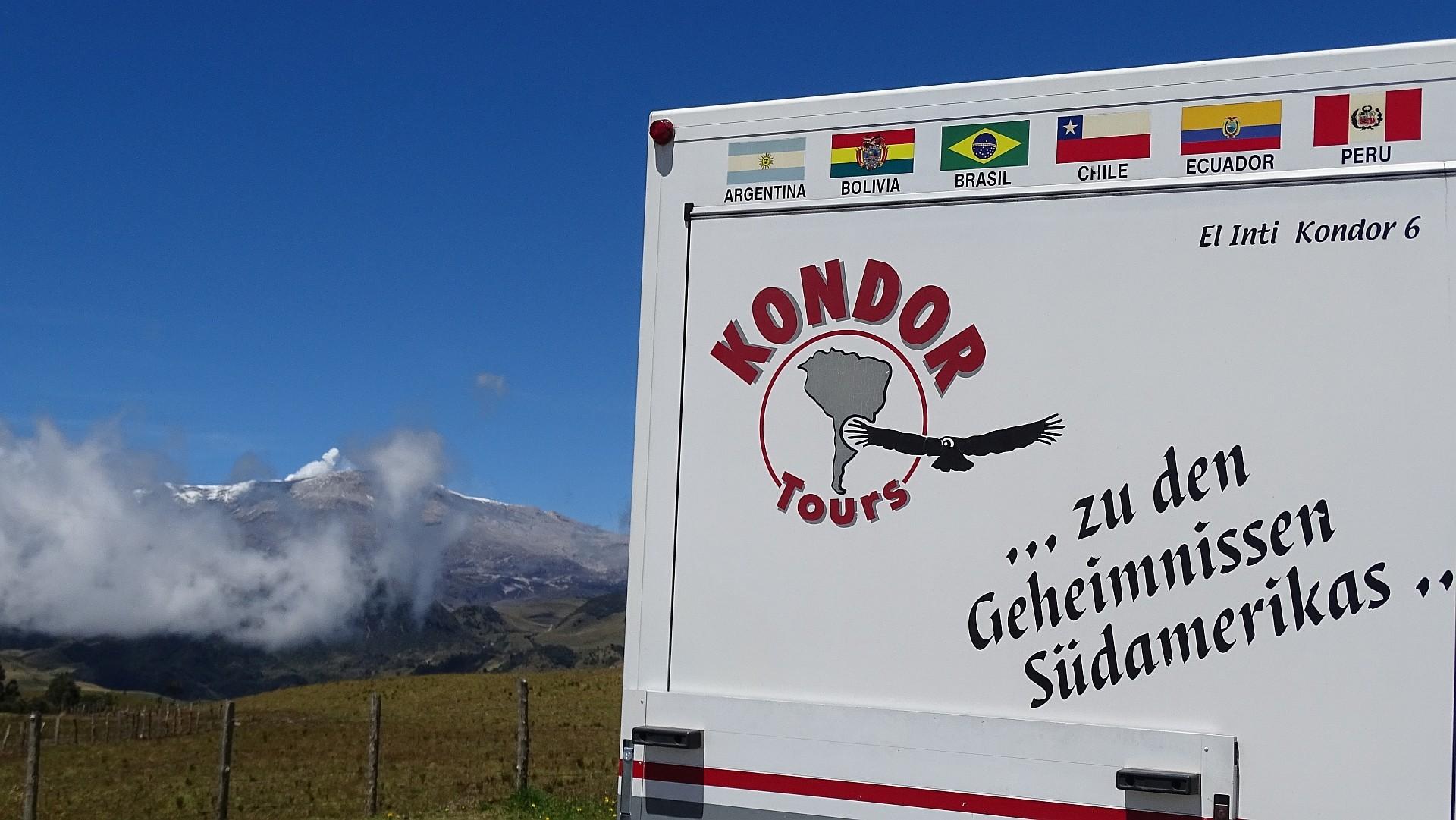 Vorbei an aktiven Vulkanen