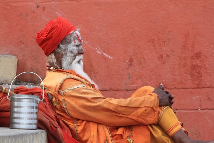 Heiliger Sadhu in Indien