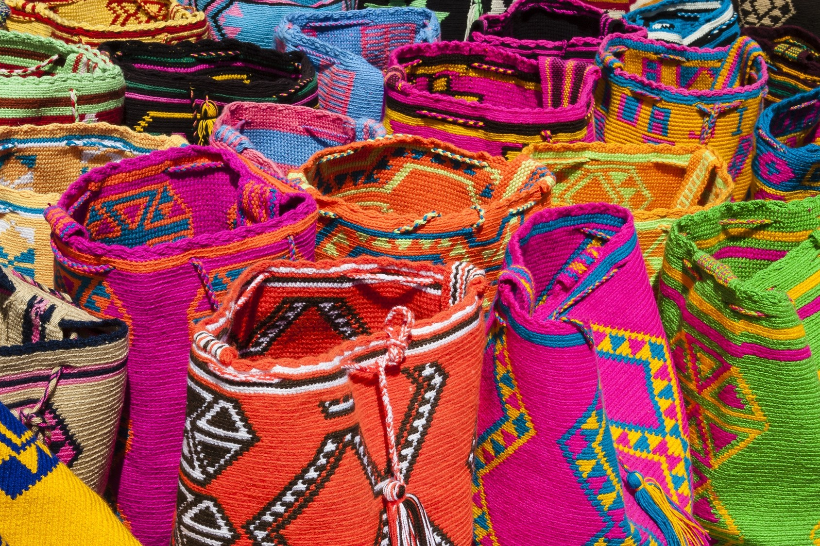 Bunte Märkte überall auf unserer Privatreise durch Kolumbien