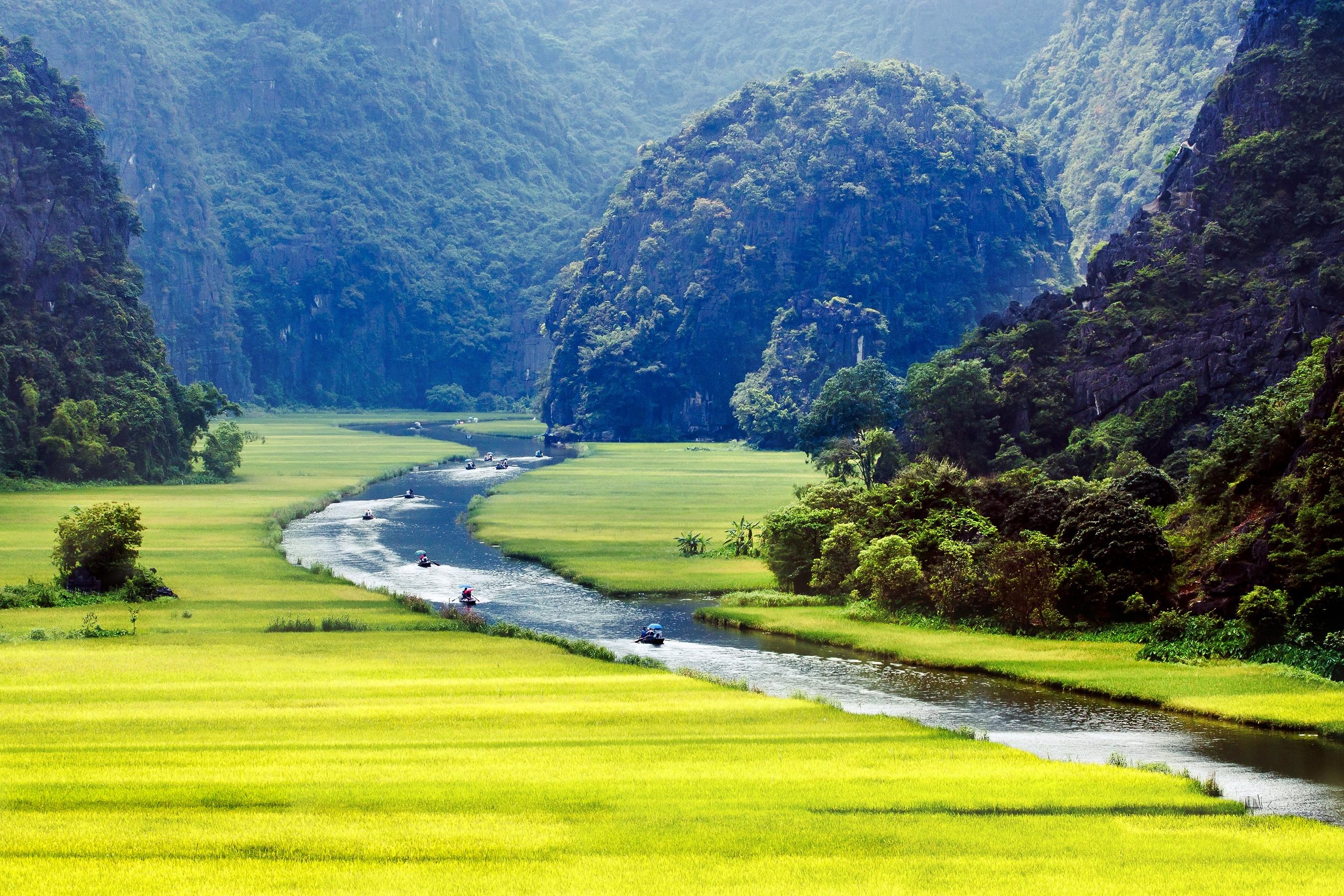 Unterwegs mit dem Boot auf unserer Vietnam-Rundreise