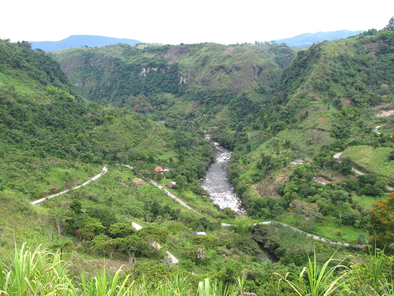 Das Tal des Rio Magdalena bei San Agustin auf unserer Kolumbien-Privatreise