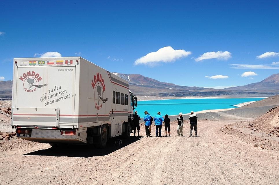 Laguna Verde in den Anden auf unserer Passüberquerung