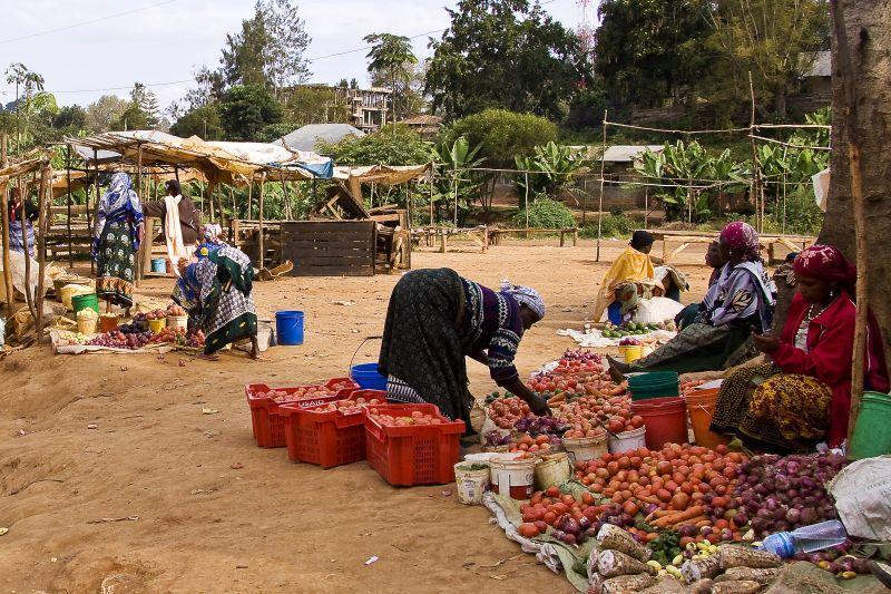 Markttag in Tansania
