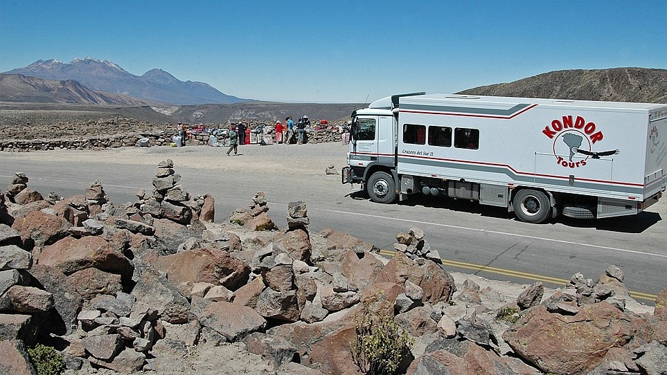 Unterwegs in den Hochanden Perus auf dem Weg in den Colca-Canyon