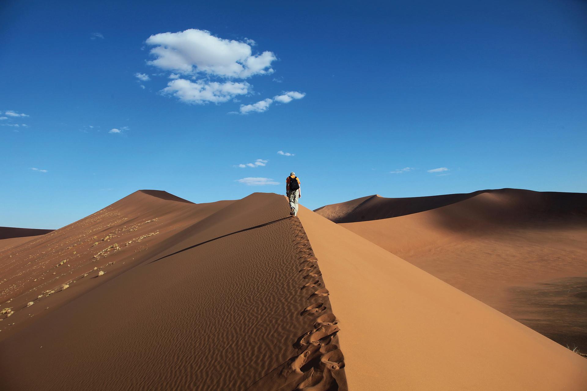 Auf den Dünen von Sossusvlei