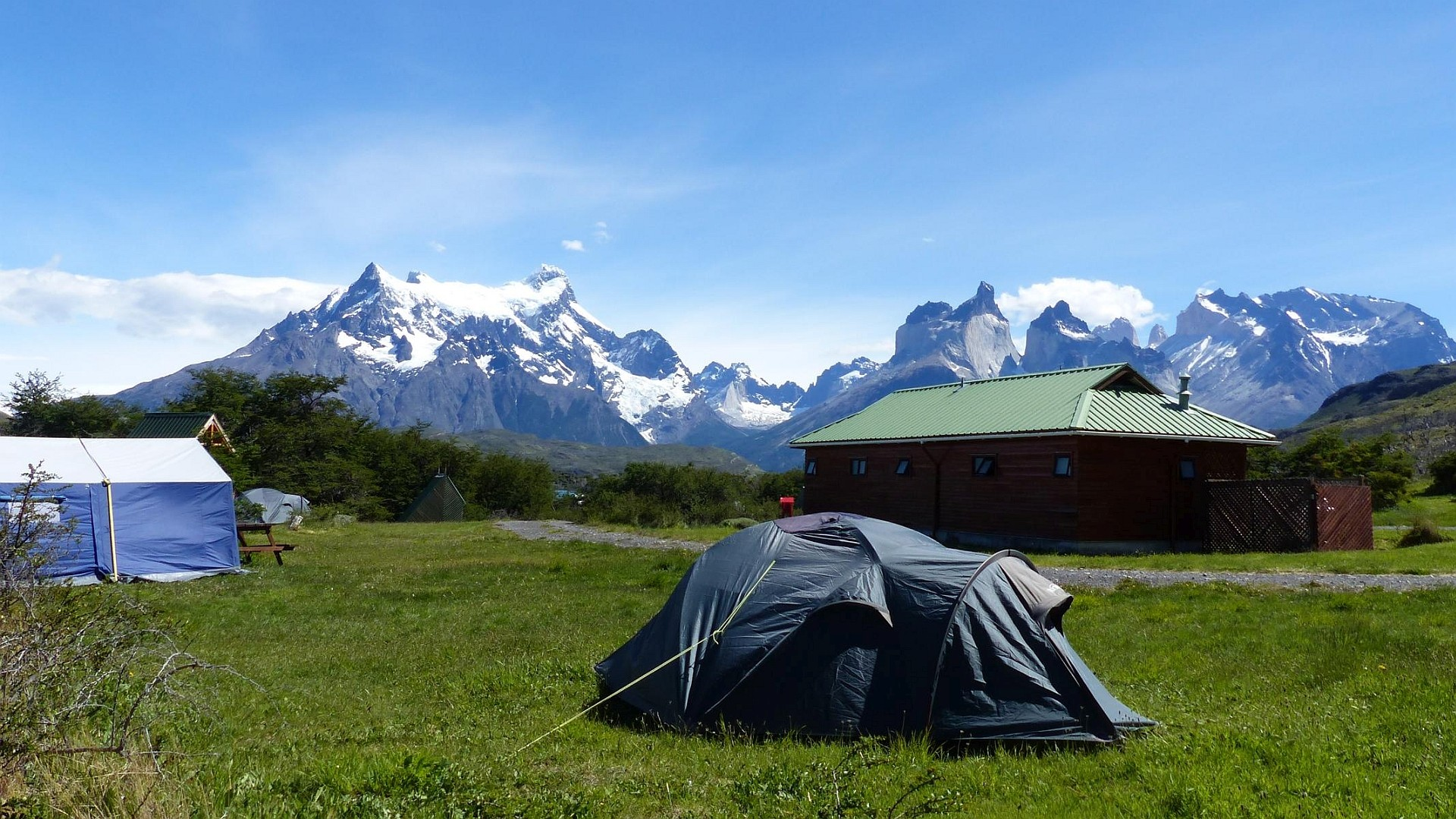 Campingplatz im Nationalpark Torres del Paine in Chile