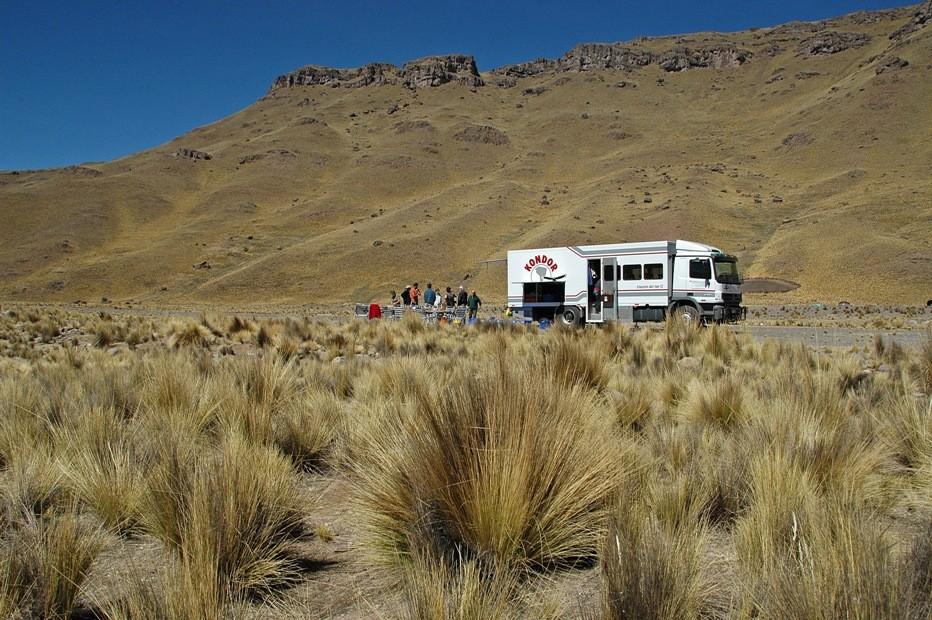 Pause auf dem Altiplano in Peru