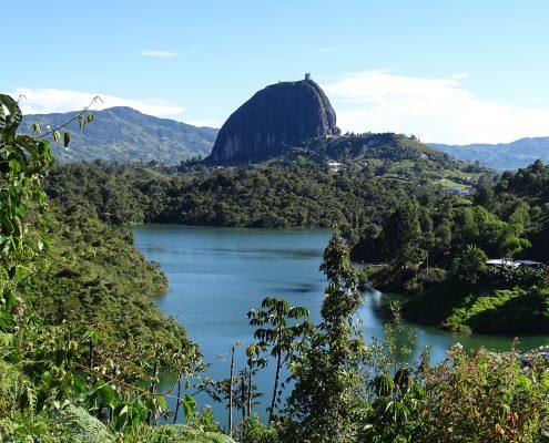 Blick auf den Peñon de Guatapé