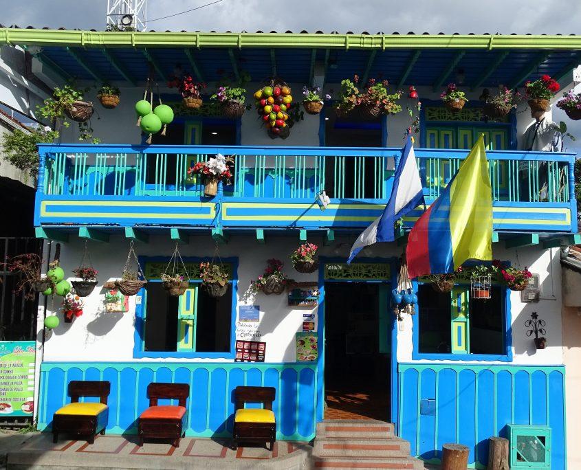 Farbenfrohes Haus in Salento