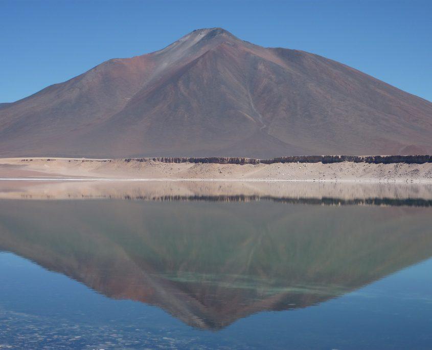 Andenszenerie an de Laguna Verde in Chile