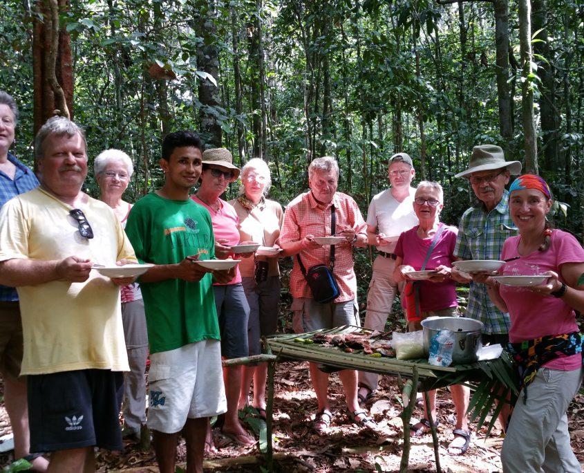 Picknick mitten im Urwald auf unserer Brasilien Reise