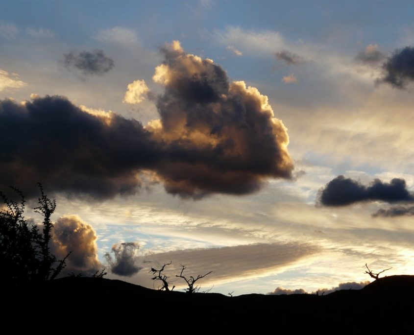 Abendhimmel wie gemalt in Patagonien