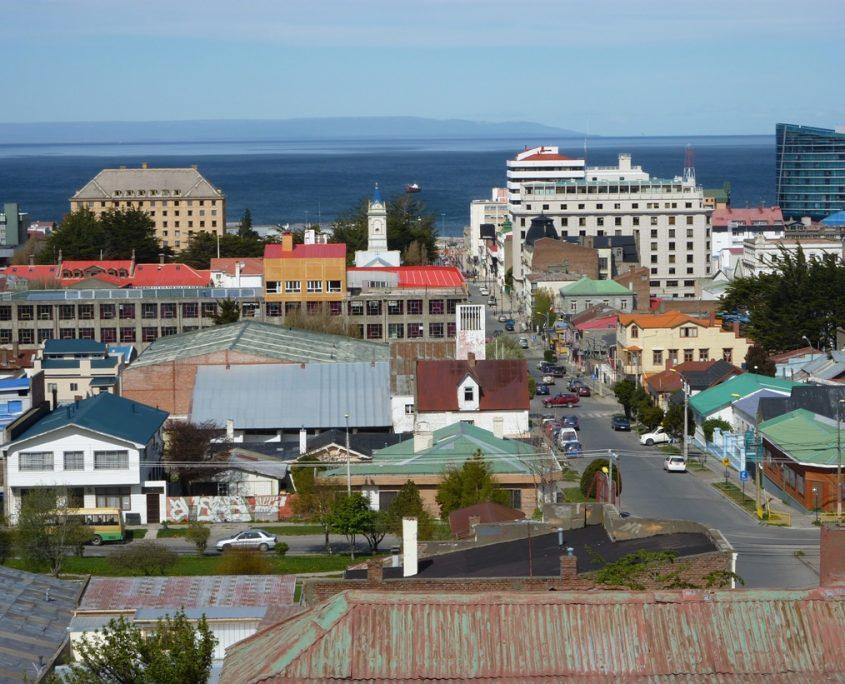 Blick auf Punta Arenas in Südchile