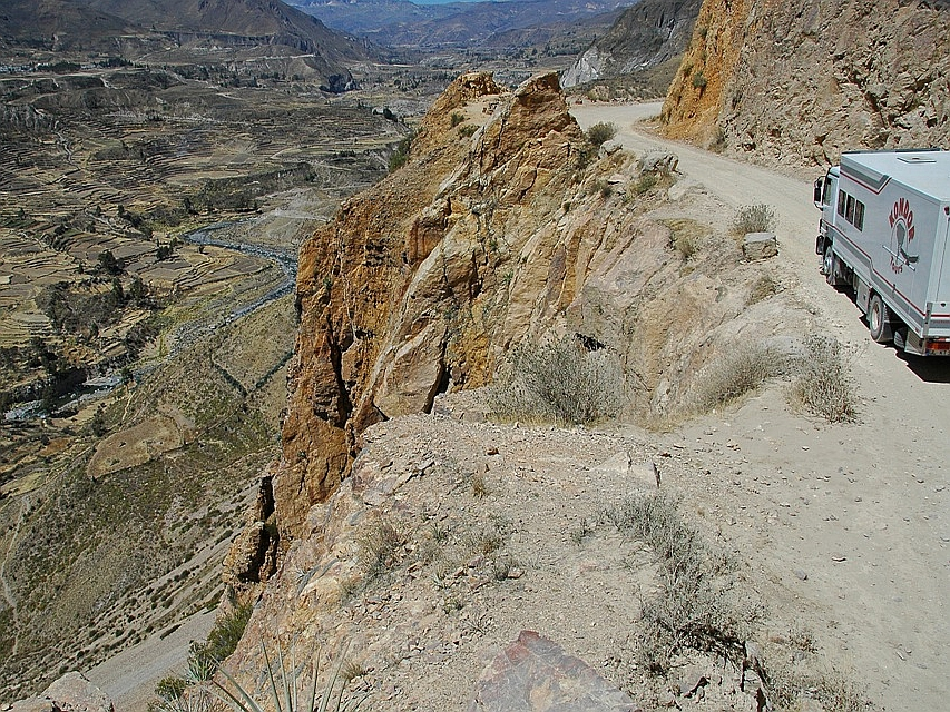Unterwegs im Colca-Canyon in Peru