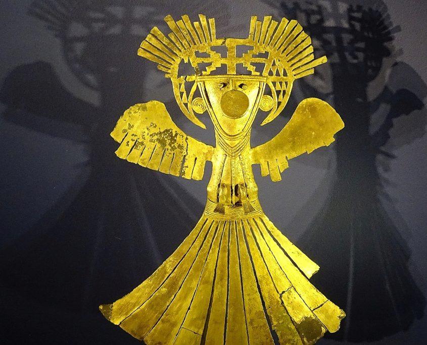 Wertvolle Goldexponate im Goldmuseum von Bogota