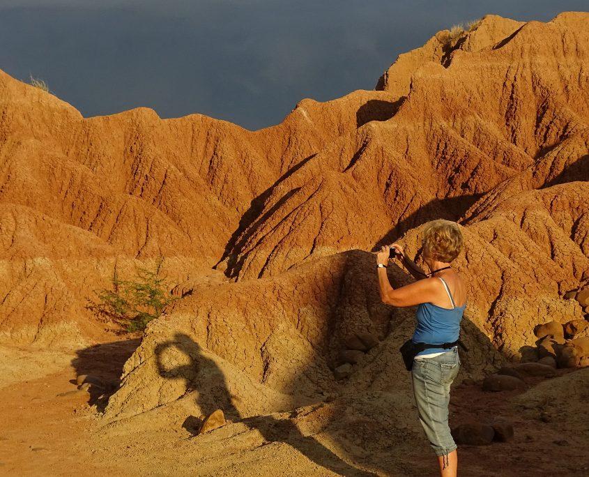 Morgenspaziergang in der Tatacoa-Wüste