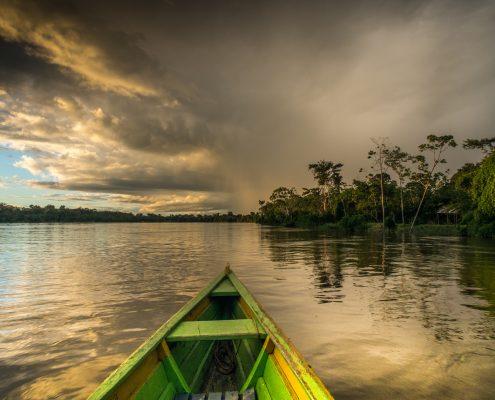 Morgenstimmung im peruanischen Amazonasgebiet