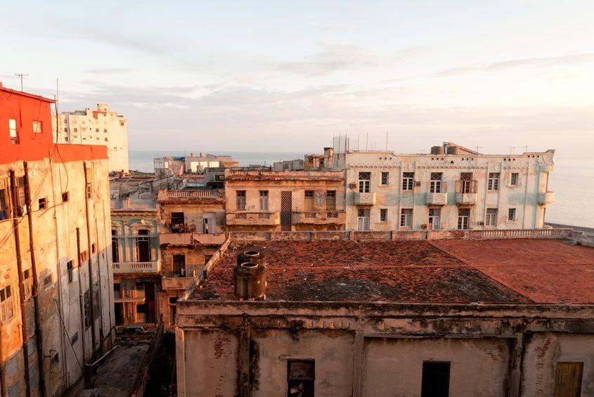 Alte Gebäude in der Hauptstadt Havanna