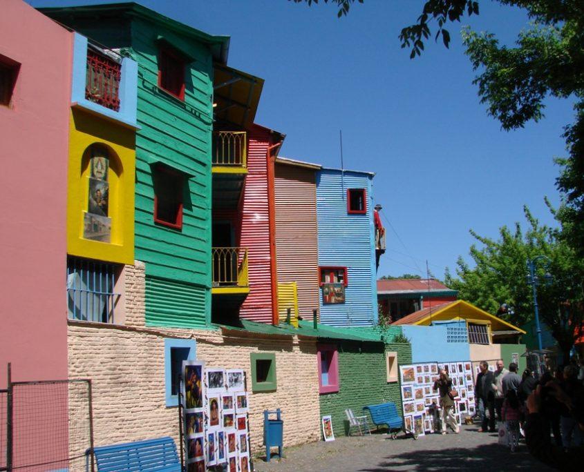Berühmtes Viertel La Boca in Buenos Aires