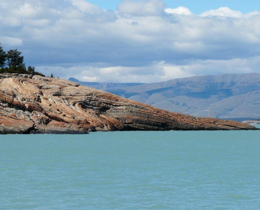 Landzunge in den Lago Argentino auf unserer Patagonien Reise