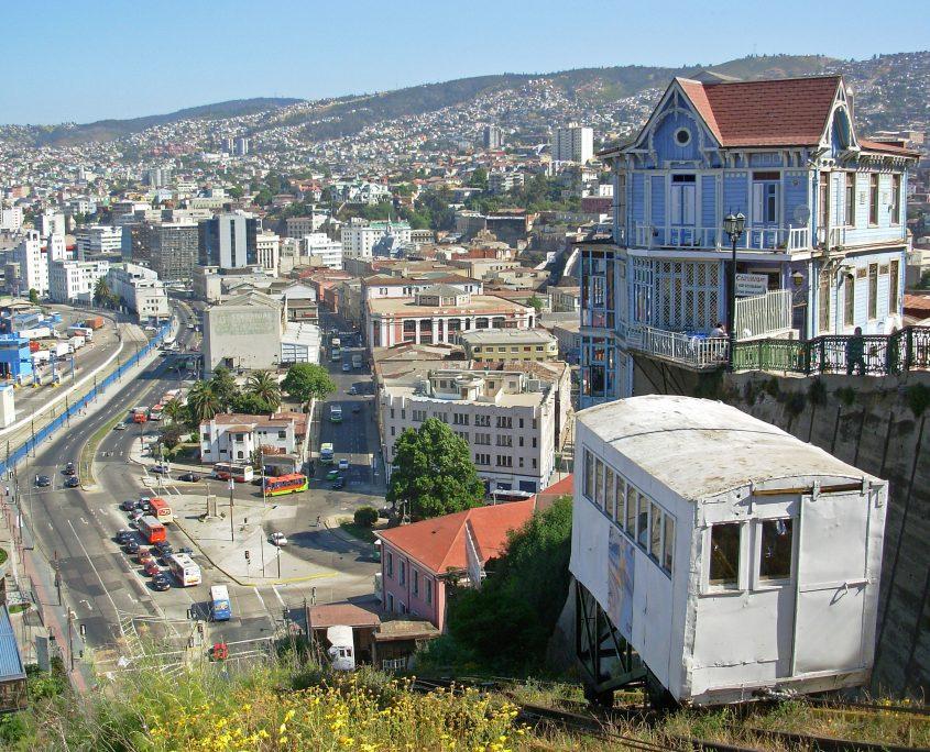 Besuch in Valparaiso der Pazifikstadt
