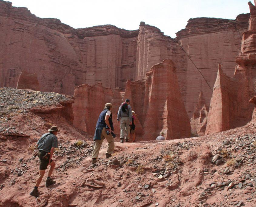Wanderung im Talampaya Nationalpark in Argentinien