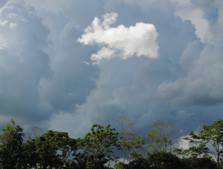 Wolkenformation im Amazonastiefland