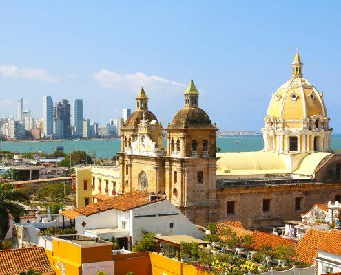 Blick auf Cartagena