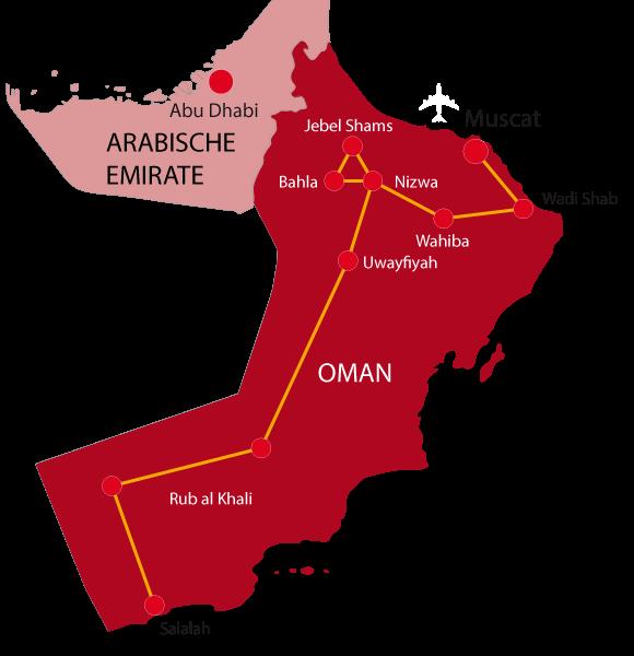 Karte Abenteuer Weihrauchland