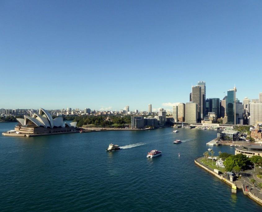 Blick auf die Marina von Sydney