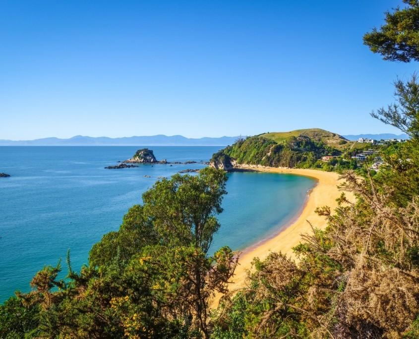 Wunderschöner Küstenweg im Abel Tasman Nationalpark